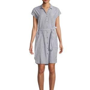 Velvet by Graham & Spencer Striped Shirtdress-NWT